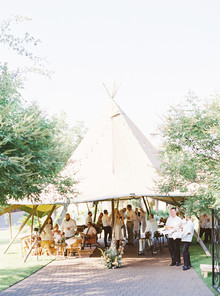 Wedding tipi for cocktail hour