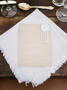 Wedding menu idea