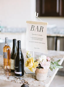 Wedding bar signs