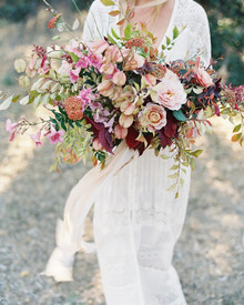Gorgeous fall bridal bouquet