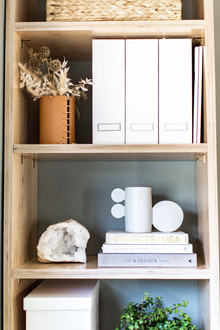 styled shelves