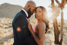 Formal desert engagement shoot