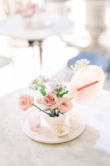 Modern blush centerpiece