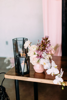 Black and pink wedding colors