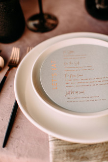 Luxe modern place settings