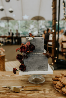 Romantic floral wedding cake