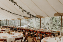 Romantic wedding tent