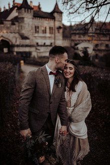 Bohemian fall elopement inspiration at Lichtenstein Castle