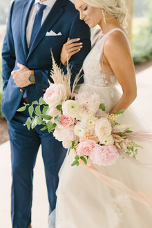 Blush and white bridal bouquet