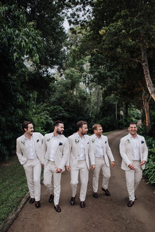 Neutral groom and groomsmen