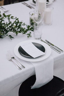 White, black and green wedding