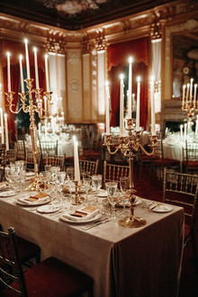 Candlelit wedding reception