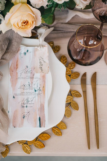 Watercolor menu ideas