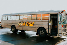 Wedding school bus