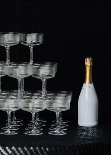 Champagne tower NYE party ideas