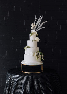 modern white tiered wedding cake
