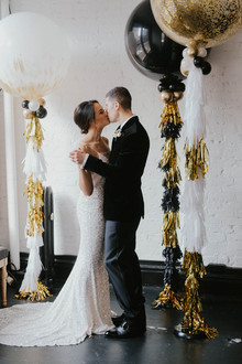 Black and gold new years eve wedding