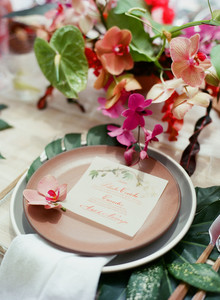 Costa Rican tropical flowers for wedding