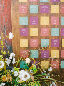 colorful seating chart idea