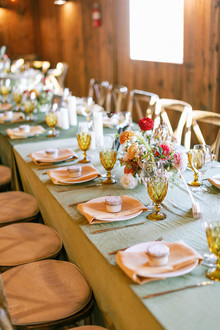 fall wedding place settings