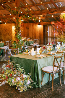 romantic fall tablescape