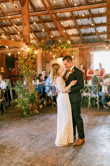 first dance in barn venue