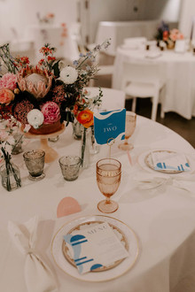 Blue and pink wedding colors