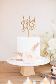 baby shower cake topper