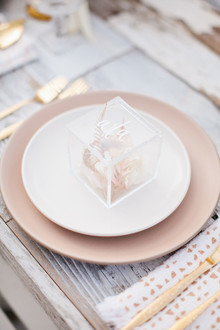 acrylic favor box place setting
