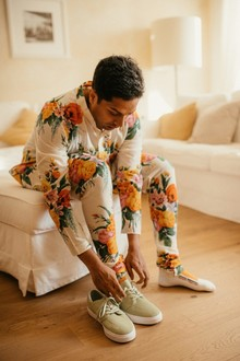 Floral Indian groom