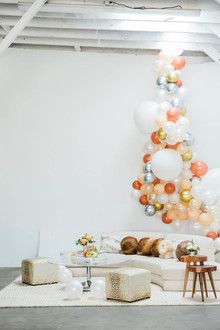 a modern animal-themed baby shower for Anne Sage