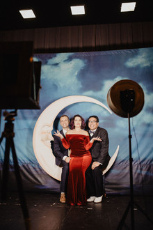 Moon backdrop for art decor wedding