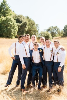 Rustic groomsmen fashion
