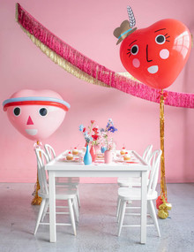 Valentine's Day heart balloons