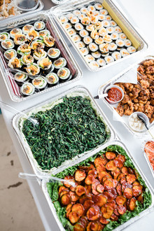 sushi spread for party