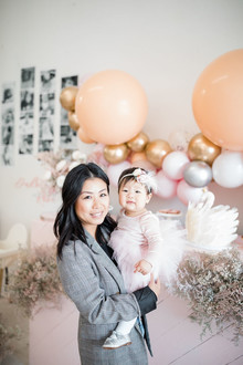 Pink Swan-themed 1st birthday