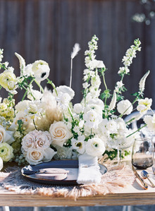 White wedding centerpiece