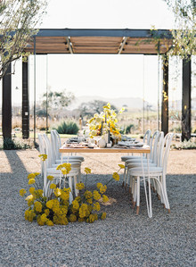 Yellow wedding centerpieces
