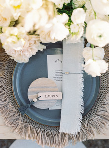 modern grey place settings