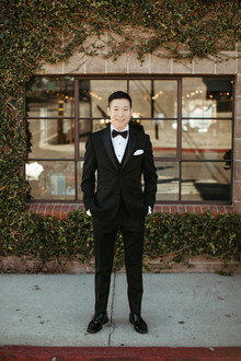 black tux groom
