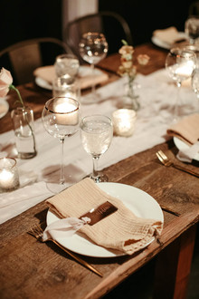modern blush place setting