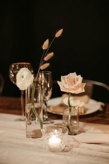 modern minimal wedding decor