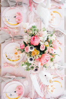 Pastel pink + lavender bird-themed girls birthday party