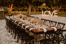 Wedding tablescape at ACRE