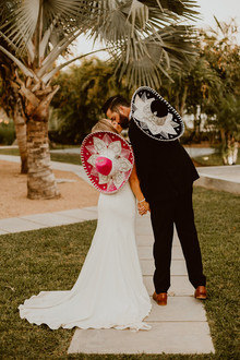 Bride and groom sombreros