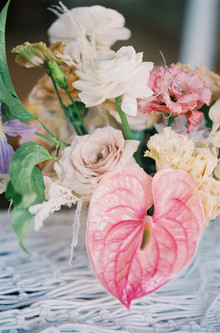pink hawaiian centerpiece