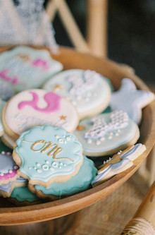 mermaid insired cookies