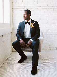 modern fall groom