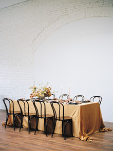 mustard yellow wedding tablescape