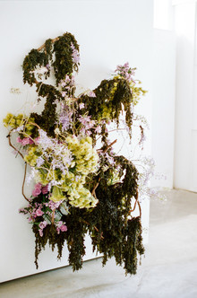 green floral installation
